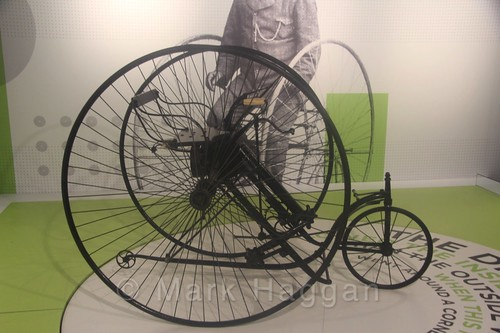 A bicycle at Coventry Transport Museum