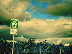 Trans Canada West (Thought Knots Design) Tags: road travel sky sun canada art skyline photoshop landscape photography design colorful thought colours infinity horizon canadian retro future funk colourful knots thoughtknotsdesign jbsbirfday