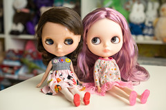 Mini-me and Lorraine.