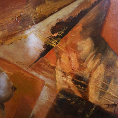 Au feminin/ fait maison (buch.daniele) Tags: orange tableau toile acrylique titien nufemme danielebuch