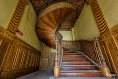 CS-4 (StussyExplores) Tags: france stairs spiral decay social explore villa chateau manor exploration derelict urbex