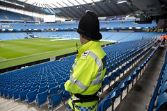 At the Match (Greater Manchester Police) Tags: football premier manchestercity mcfc footballmatch etihadstadium policingfootball raininmanchester etihadcampus policeatfootball