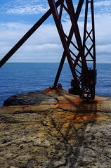 Portland (rachappleby) Tags: blue red lighthouse portland boats structures dorset coastalphotography