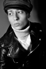 Johnny Strabler (Camilla Fioravanzi Photography) Tags: portrait blackandwhite bw selfportrait colors fashion closeup model style portraiture johnny brando hairstyle androgyny marlon tomboy boi androgynous strabler