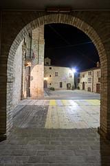 Altidona - Scorcio 01 (Promix The One) Tags: case piazza arco lampioni marche scorcio muri notturno municipio finestre centrostorico antichit mattoni canoneos1dsmarkii portoni sigma1530f3545exdgaspherical altidonafm