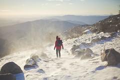 _6384 (Capelle.R) Tags: morning winter red snow mountains cold nature stone montagne sunrise trek canon season vent alone wind hiking hiver neige froid cevennes lozere randonnee 5dm2