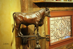 it's just a bunch of bull (judecat (getting back to nature)) Tags: bull weathervane peddlersvillage cocknbullrestaurant bullweathervane