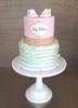 Ruffled Booties Baby Shower Cake (Sasabeth) Tags: baby ruffles booties babybooties babyshowercake babybootiescake rufflecake genderrevealcake ruffledcake