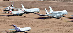 747-400'S AT VICTORVILLE (john smitherman-http://canaviaaviationphotography.) Tags: california canon airplane fly airport desert aircraft aviation flight aeroplane ba boeing flughafen boeing747 boneyard 747 airliner 747400 victorville cathaypacific baw flug 744 kvcv