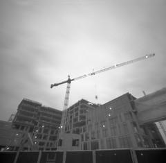 downtown crane (g.h. moran) Tags: 6x6 2000 idaho neopan 100 rodinal zero acros