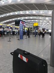 My companion (stevenbrandist) Tags: travel london airport heathrow luggage suitcase terminal5 checkin travelogue samsonite