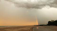 Rainbow's end (stormgirl1960) Tags: ocean sky storm beach rain clouds rainbow darwin northernterritory buffalocreek