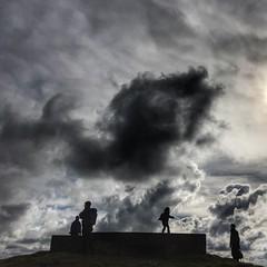 Pill Box on High Edge. (scott.simpson99) Tags: winter sky sun clouds walking landscape buxton hiking hill limestone pillbox 2016 366 scottsimpson chromehill iphone6