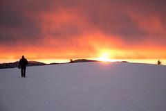 De neige et de feu (Explored 2016-01-04) (Gisou68Fr) Tags: sunset mountain snow france montagne alsace neige markstein