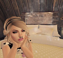 Hello. (Enigma Rae) Tags: hello house cute love home me girl sign clouds self relax lights star bed looking sleep enigma pillow headboard lay selfie