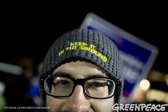 Keep It In The Ground Getting Warmer (Greenpeace USA 2015) Tags: usa democracy durham newhampshire vote republican democrat keepitintheground