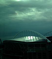 Glow (Getting Better Shots) Tags: light sky weather glow stadium