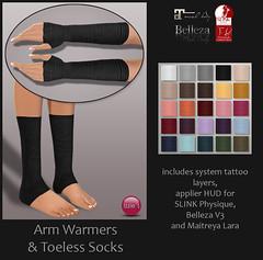 Arm Warmers & Toeless Socks (for TLC) (Izzie Button (Izzie's)) Tags: sl simplicity armwarmer tlc izzies toelesssocks