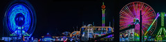 fair lights panorama (pbo31) Tags: california carnival panorama motion black color night dark oakland nikon ride spin large twin fair panoramic spinning bayarea ferriswheel eastbay february mardigras stitched alamedacounty 880 2016 lightstream boury pbo31 d810
