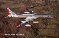 990 Astrojet, American Airlines (SwellMap) Tags: architecture plane vintage advertising design pc airport 60s fifties aviation postcard jet suburbia style kitsch retro nostalgia chrome americana 50s roadside googie populuxe sixties babyboomer consumer coldwar midcentury spaceage jetset jetage atomicage