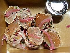 Tuna Tataki Salad Roll (knightbefore_99) Tags: fish work paper sushi lunch japanese salad raw rice cabbage roll tuna tataki albacore charlesbar