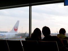 departure (matsugoro) Tags: people backlight digital pen 50mm tokyo airport olympus backlit departure zuiko haneda epl2