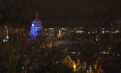 Council House Dome, from Nottingham Castle (Brownie Bear) Tags: nottingham uk england house castle rock britain united great kingdom dome gb council nottm
