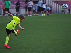 Camp Nou, kids football (Lee Harris.) Tags: barcelona spain catalunya precisionpasscampnou