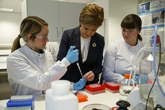 Investing in the healthcare of the future (Scottish Government images) Tags: nicola health medicine sturgeon firstminister scottishgovernment
