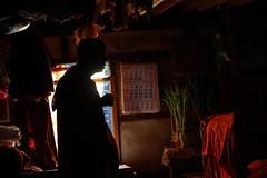 Shadow of monk (deus77) Tags: shadow portrait house window silhouette yangon pray monk buddhism monastery myanmar
