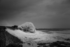 I am here (Tim Bow Photography) Tags: blackandwhite bw lighthouse seascape water pier waves power wave stormy structure british welsh swell seas porthcawl blackandwhitephotography 2016 stormyseas purenature porthcawlpier timboss81 timbowphotography welshseascape ukwildweather ukwinterstorms2016 stormimogen