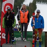 Red Mountain Fidelity BC Cup Slalom - Ladies' U18 Podium March 6 (left to right) Nakia Kamachi, Kristina Natalenko, Michelle Rufener PHOTO CREDIT: Martin Tichy