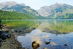 Phelps Lake (Patricia Henschen) Tags: mountains reflection moose jackson wyoming grandtetons tetons preserve naturepreserve grandtetonnationalpark phelpslake laurancesrockefellerpreserve