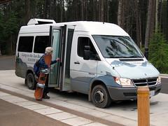 Glacier Going-to-the-Sun Road shuttle (NPS Climate Change Response) Tags: park bus glacier national shuttle climatechange