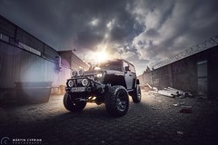 Jeep Wrangler (CypoDesign) Tags: sunset sun black car dark jeep offroad automotive slovakia matte wrangler cyprian cypo