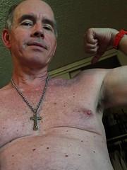 Mesa man UA 3 4 2016 (Monte Mendoza) Tags: shirtless man guy nipple cross dude uomo hombre homme ua noshirt armpits pecho sanschemise malechest sincamisa