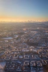 Helsinki from bird's view (jussi.puuri) Tags: sunrise finland helsinki glow