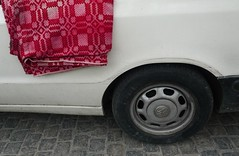 offer (mel-pin) Tags: street red white black car wheel carpet march athens offer melpin μελανία