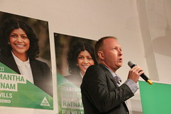 Greg Barber MLC at Greens Campaign Launch for #Wills2016 (John Englart (Takver)) Tags: greens wills ausvotes samantharatnam ausvotes2016 wills2016