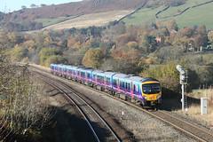 20151101_IMG_1792 (PowerPhoto.co.uk) Tags: train railway dmu dieselmultipleunit chinley 1b74 class185 firsttranspennineexpress 185147 185121 ftpe