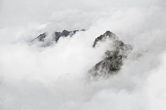 Cutting clouds (Kim Timohy Engh) Tags: travel sky cloud white mountain snow texture tourism ice nature rock fog clouds landscape high view hiking peak summit highaltitude backround moun lunersee