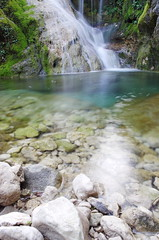 waterfall (SS) Tags: longexposure italy plant nature water colors creek forest river landscape waterfall moss stream outdoor riverbed acqua lazio watercourse cascata capranica verticalformat monteguadagnolo smcpentaxda1855mmf3556alwr pentaxk5 ss