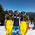Whistler Cup Ladies' U16 SG (left to right) Eloise Carle 2nd (QC); Marte Monsen 1st (Norway); Sierra Smith 3rd (Qc) PHOTO CREDIT: Keven Dubinsky