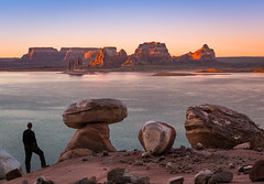 Lake Powell (www.fourcorners.photography) Tags: glencanyon glencanyonnationalrecreationarea utah sunrise selfie hoodoo buttes water peterboehringerphotography peterboehringer lakepowell cookiejar fourcornersphotography