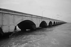 Progreso 1 (ram_merval) Tags: blancoynegro mxico puerto puente photography mar arquitectura agua nikon yucatn arco malecn tierra mrida monocromtico d3200