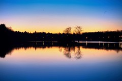 Serene Blue (Lojones13) Tags: longexposure blue sunset sky lake water landscape mirror waterfront outdoor dusk serene