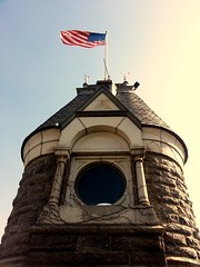 Belvedere Castle (esman.calles) Tags: nyc newyorkcity usa newyork tower castle architecture centralpark flag americanflag american archie belvedere belvederecastle