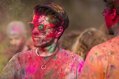 Manchester celebrates Holi (Sandy Sharples) Tags: uk colour festival manchester fun march spring dof celebration holi