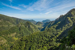Verdant Valley (Mr.Enjoy) Tags: ocean park trees light sky mountains green nature clouds walking spectacular landscape countryside woods scenery forrest outdoor walk horizon perspective lifestyle location lookout hike atlantic clear ridge oasis valley enjoy promenade gorge verdant mountainside geography lush activity laurel endemic madeira senderismo steep gehen wanderung randonne faial laurisilva madeiraisland ribeirofrio madere macaronesia ocoteafoetens penhadeguia balces parquenaturaldamadeira fajdanogueira simonzinophotography