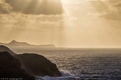 End of Day (K_D_B 2 Million views. Thanks) Tags: sea sky cloud water wales canon rocks cliffs rays sunrays pembrokeshire kdb stdavidshead carnllidi 7dmkii tamronsp150600mmf563divcusda011
